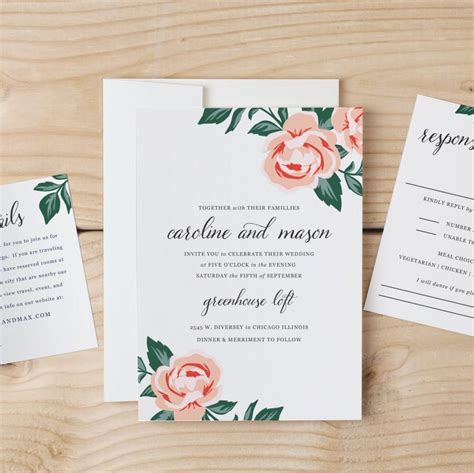 diy invitations templates diy wedding invitation template colorful floral word or pages mac or pc change the colors