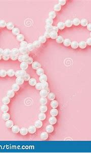Pearls On Pastel Pink Background With Copy Space Stock ...
