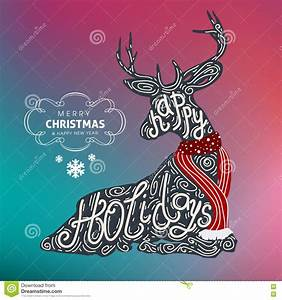 Happy Holidays Merry Christmas And Happy New Year Colorful ...
