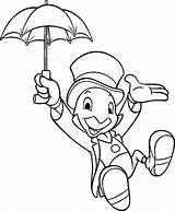 Cricket Coloring Pages Jiminy Disney Cartoon Boys Pinocchio Printable Adult Uploaded User sketch template