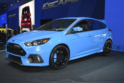Foto: Beurzen Los Angeles 2015 Ford Focus RS blauw Ford