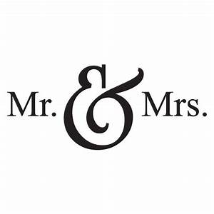 Mr Mrs Wall Quotes Decal