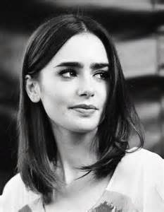 Black White Lily Collins