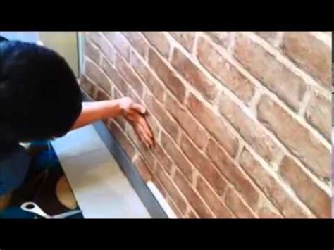 install  adhesive pvc wallpaper sticker brick