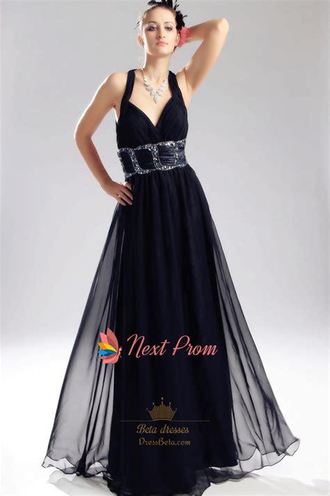 criss cross  prom dresses navy blue chiffon prom