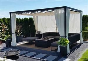Pavillon mit faltdach. sonnenschutz pavillon mit faltdach cc04