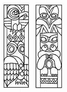 totem pole coloring pages pinterest With totem pole design template
