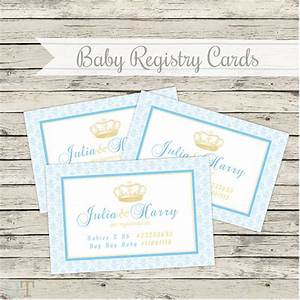 items similar to printable baby shower registry cards With free printable baby registry cards