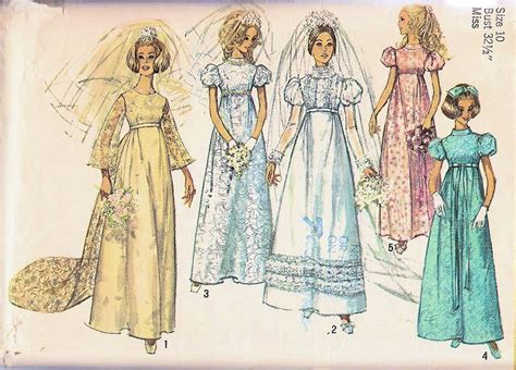 Style In Simplicity [Visualized] : 1960s Beautiful Wedding Gown Bridal Dress Pattern