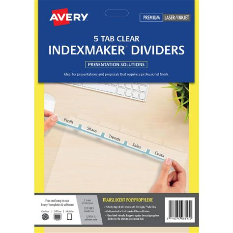 how to write a letter of recommendation for a friend 88 averyr style edgetm insertable plastic dividers 5 11906