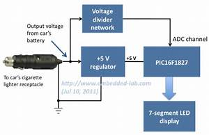 Voltage Monitor For Car U0026 39 S Battery And Its Charging System  Part 1  Schematic