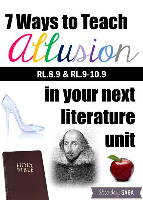 Teaching Allusion Dealing With Rl89 And Rl9109  Secondary Sara