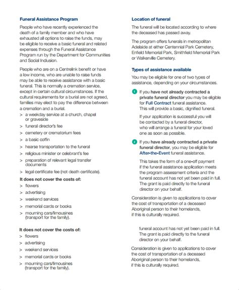 sample child funeral program template   documents