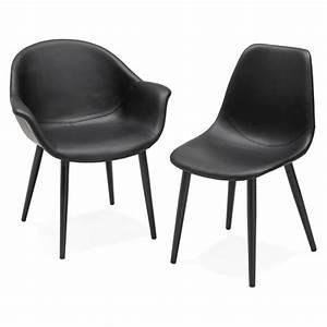 fauteuil chaise design et moderne orly noir With fauteuil chaise design
