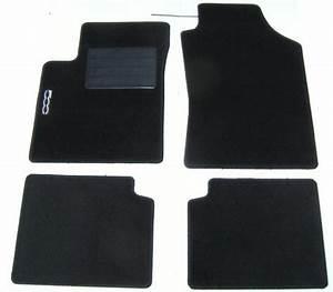 kit de 4 tapis de sol fiat 500 moquette avec sigle 500 With tapis fiat 500