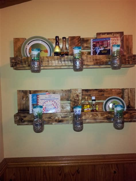 etagere cuisine murale diy wooden pallet shelves with storage pallet furniture