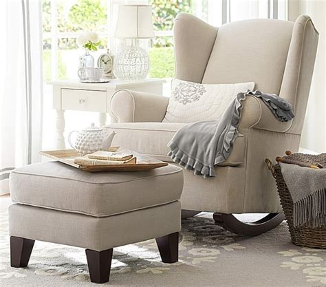 Wingback Rocker Pottery Barn by Wingback Convertible Rocker Rocking Chairs Other Metro