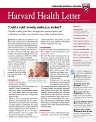 harvard health letter the hazards of cold medicines from the november 13784