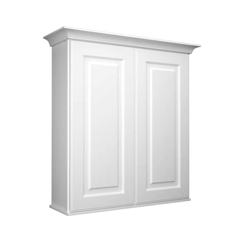 wall to wall cabinets shop kraftmaid 27 in w x 30 in h x 8 in d white bathroom
