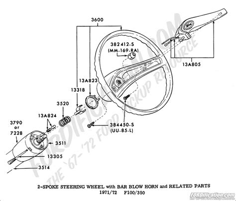 1966 Ford F100 Horn Diagram by Ford Truck Technical Drawings And Schematics Section I