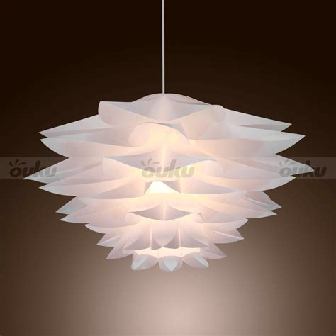 new modern white pvc ceiling light pendant l living