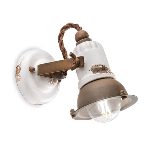 applique in ceramica applique orientabile a faretto in ceramica e metallo