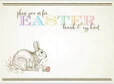 Free Customizable Easter Invitations from