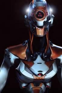 Futuristic Sci-Fi Robot Android Cyborg Girl