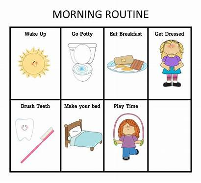 Morning Clipart Routine Clip Cliparts Charts Nightime