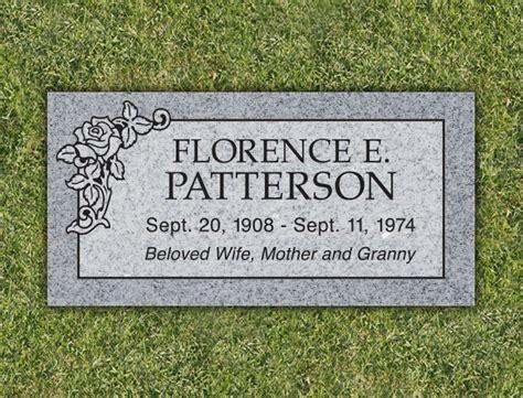 roses panel granite cemetery grave marker lovemarkers