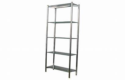 Chrome Etagere Midcentury Onekingslane Shelves Something Bookcase