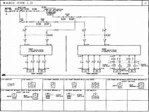 1991 Mazda B2600i Wiring Diagram  Audio Radio Stereo Speakers
