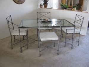 pier one glass dining room table 230 obo pier 1 like new glass top metal frame dining set