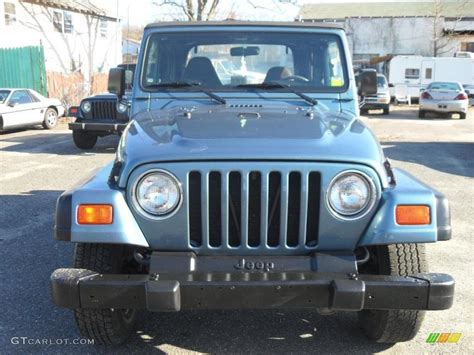 gunmetal blue jeep 1999 gunmetal pearlcoat jeep wrangler se 4x4 28059529