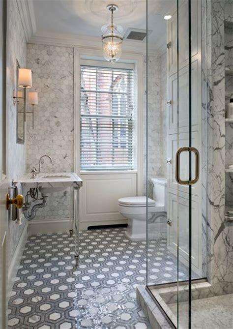 Marble Hexagon Floor Tile Bathroom by Gray Marble Hex Floor Tile Design Ideas