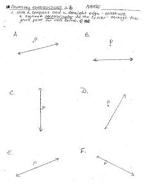 geometry constructions worksheet for 7th 10th grade