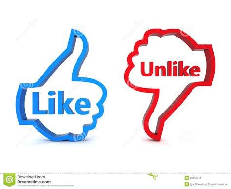 Like And Unlike Royalty Free Stock Image