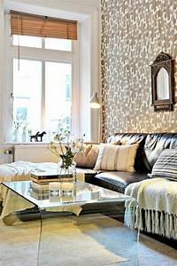 on vous presente le salon en cuir une tendance moderne With tapis de course pas cher avec canapé cuir pleine fleur pas cher