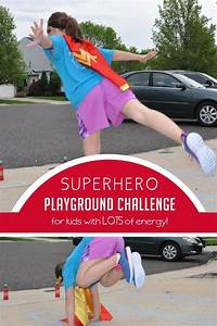 Superhero, Playground, Challenge, For, Energetic, Kids
