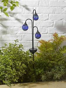 Smart solar garden decoration trio globe stake light white