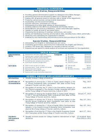 cv resume sample  fresh graduate