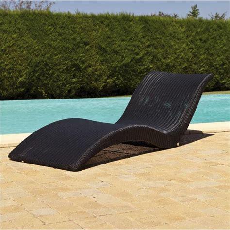 transat zen en resine tressee noir achat vente chaise longue transat zen soldes d 233 t 233