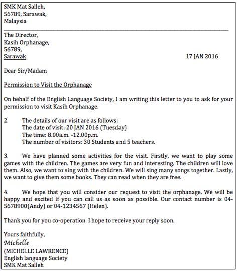 write  letter  permission formal letter pt