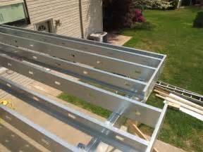 Deck Joist Hangers Home Depot by Goodbye Wood Deck Framing Hello Steel Deck Framing