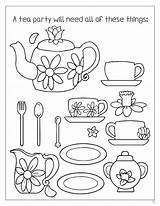 Tea Coloring Party Pages Boston Printable Enchanted Teaparty Word Getcolorings sketch template