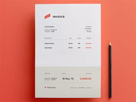 invoice  template  matt dayton  dribbble