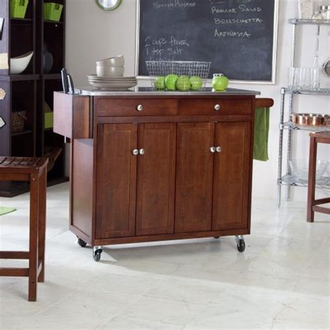 portable kitchen islands with stools belham living espresso portable kitchen cart with stools 7564