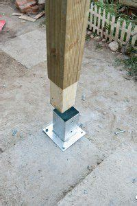 Carport Post Anchors by How To Anchor Post To Concrete Patios Pergolas Decks