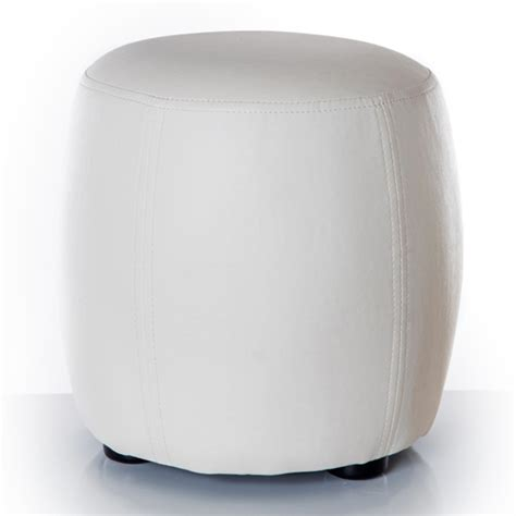 chambres completes pouf rond blanc