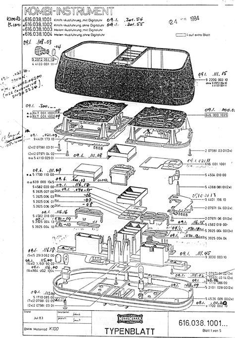 1985 Bmw K100 Wiring Diagram by K Bike Instrument Cluster